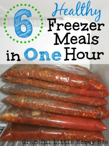 Learn how to make 6 frugal and healthy ground beef freezer meals in one hour!
