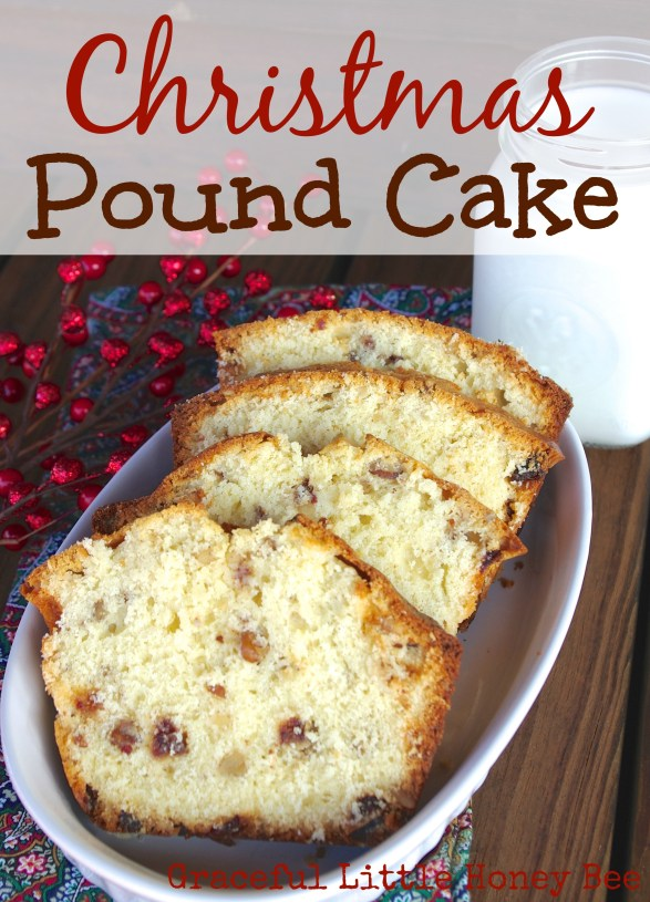 With dates and walnuts, this pound cake is full of holiday cheer!