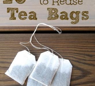 10 Useful Ways to Reuse Tea Bags on gracefullittlehoneybee.com