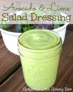 Avocado & Lime Salad Dressing on gracefullittlehoneybee.com