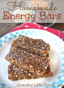 These homemade energy bars are the perfect healthy pick-me-up.
