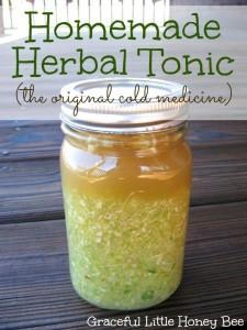 Homemade Herbal Tonic on gracefullittlehoneybee.com