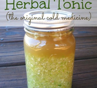 Homemade Herbal Tonic on gracefullittlehoneybee.com