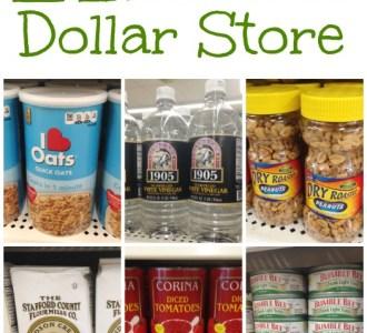 21 Real Food Items at the Dollar Store on gracefullittlehoneybee.com