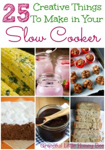 Did you know that you can make things like cheesecake, caramelized onions, yogurt and rice in your slow cooker? Check out these 25 Creative Ways to Use Your Slow Cooker for recipes!