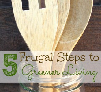 Being green doesn't mean spending tons of money. Follow these 5 frugal steps to green living today!