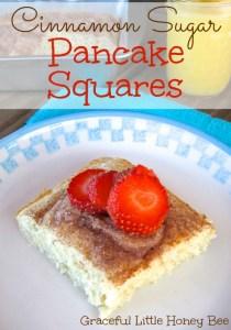 Cinnamon Sugar Pancake Squares on gracefullittlehoneybee.com