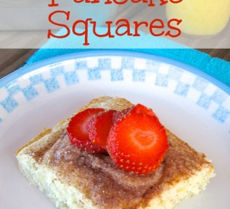 Cinnamon Sugar Pancake Squares on gracefullittlehoneybee.com
