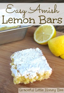Easy Amish Lemon Bars on gracefullittlehoneybee.com
