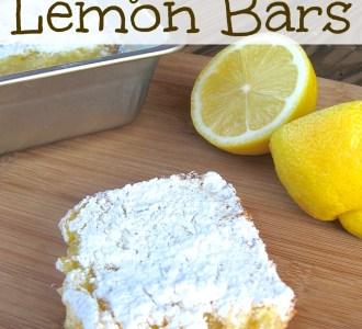 Easy Amish Lemon Bars on gracefullittlehoneybee.com