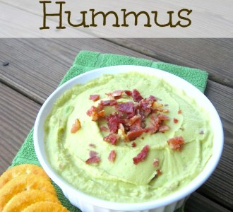 Avocado and Bacon Hummus on gracefullittlehoneybee.com #PutItOnARitz #ad