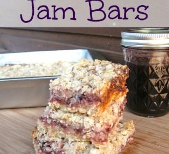 Blackberry Jam Bars on gracefullittlehoneybee.com