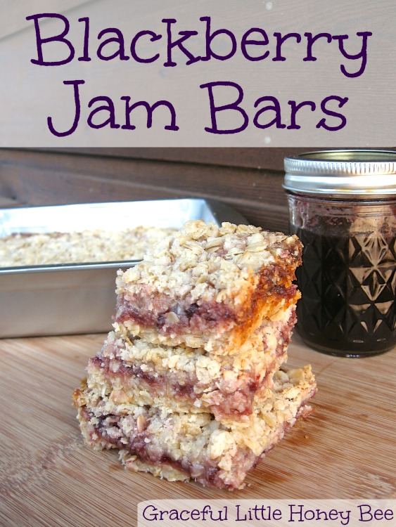 These blackberry jam bars are super simple to put together and taste delicious!