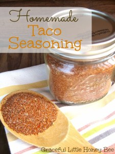 Homemade Taco Seasoning on gracefullittlehoneybee.com