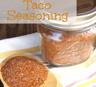 Homemade Taco Seasoning on gracefullittlehoneybee.com