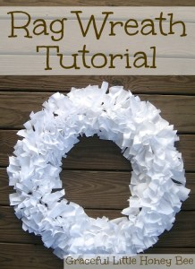 Rag Wreath Tutorial on gracefullittlehoneybee.com