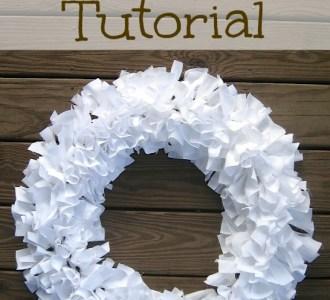 Rag Wreath Tutorial on gracefullittlehoneybee.com