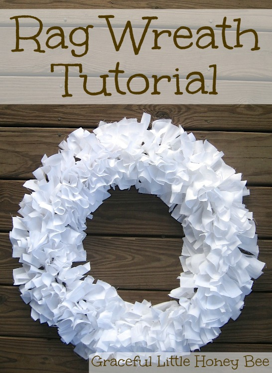 Learn how to make this easy rag wreath using strips of fabric.