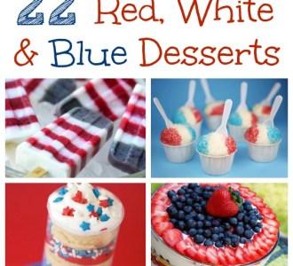 Red, White and Blue Desserts on gracefullittlehoneybee.com