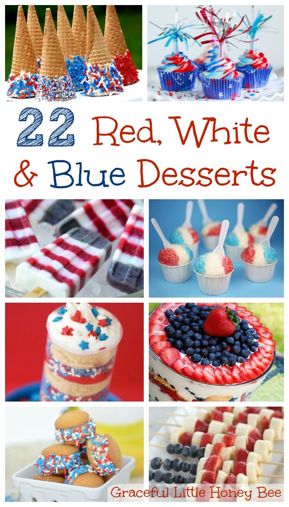 Find the perfect red, white and blue dessert recipe in this patriotic round-up.