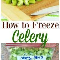 How to Freeze Celery