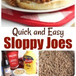 Sloppy Joes on a white plate with fries.
