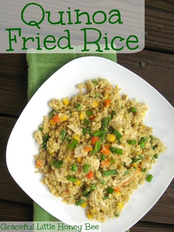 Quinoa Fried Rice is a super healthy dish that your family will love!!