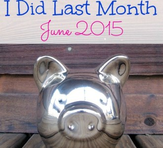 Check out what I did last month to save money!