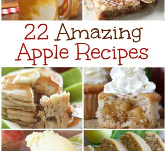 Check out these 22 amazing apple recipes just in time for fall on gracefullittlehoneybee.com
