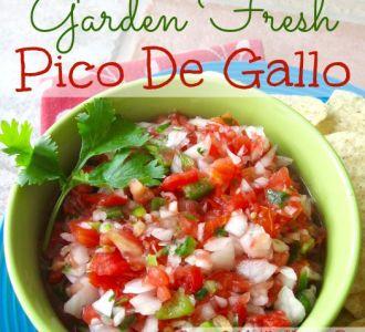Garden Fresh Pico De Gallo at gracefullittlehoneybee.com