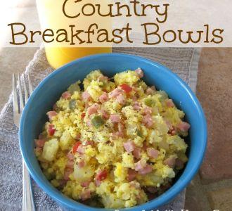 Easy Country Breakfast Bowls on gracefullittlehoneybee.com