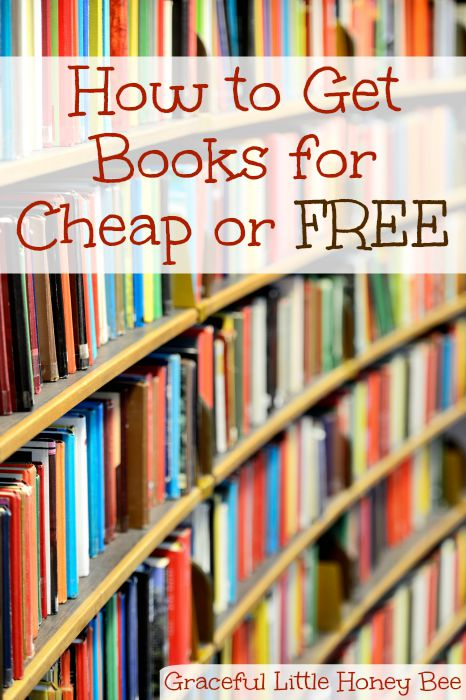 Learn five different ways that you can score books for cheap or free on gracefullittlehoneybee.com