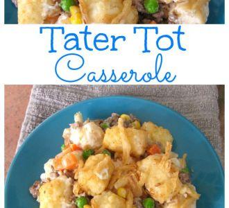 Easy Tater Tot Casserole Recipe on gracefullittlehoneybee.com
