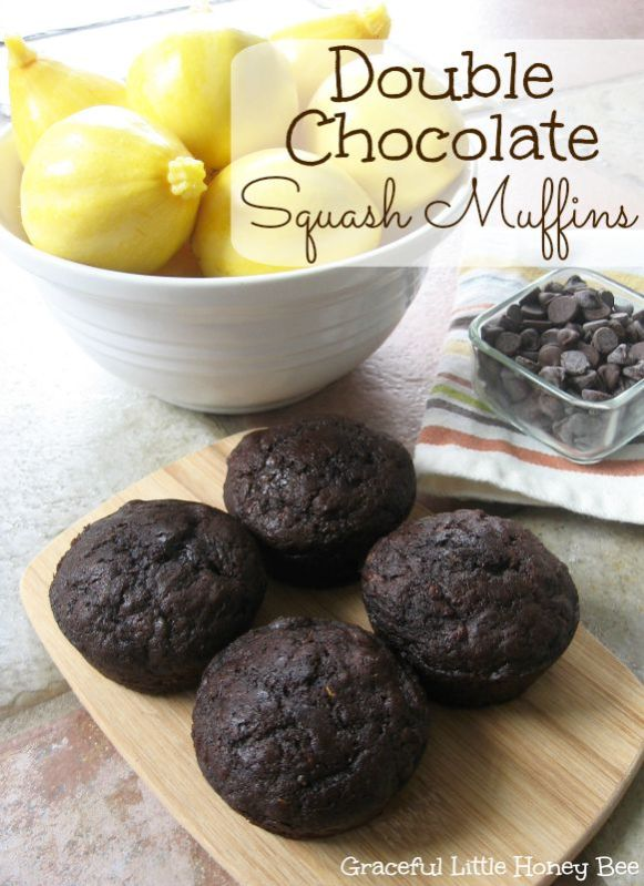 Double Chocolate Squash Muffins