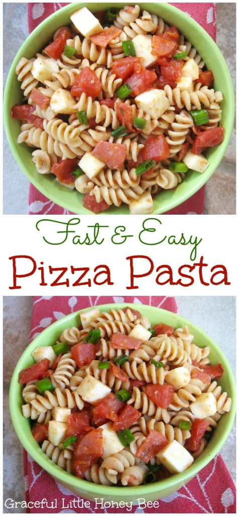 See how to make this fast and easy Pizza Pasta recipe on gracefullittlehoneybee.com #ad #YesYouCAN