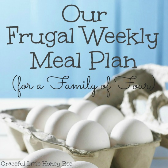 Frugal Weekly Meal Plan Square