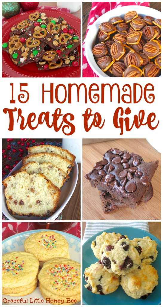 Learn how to make these 15 easy homemade treats to give this Christmas on gracefullittlehoneybee.com