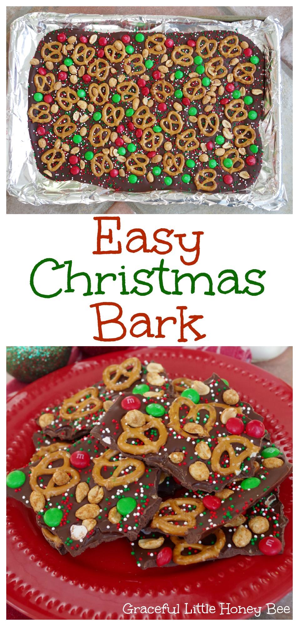 Easy Christmas Bark - Graceful Little Honey Bee