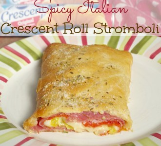See how to make this easy and delicious Spicy Italian Crescent Roll Stromboli on gracefullittlehoneybee.com