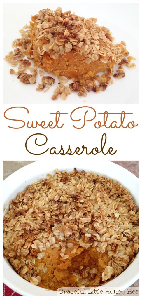 Learn how to make this delicious Sweet Potato Casserole on gracefullittlehoneybee.com
