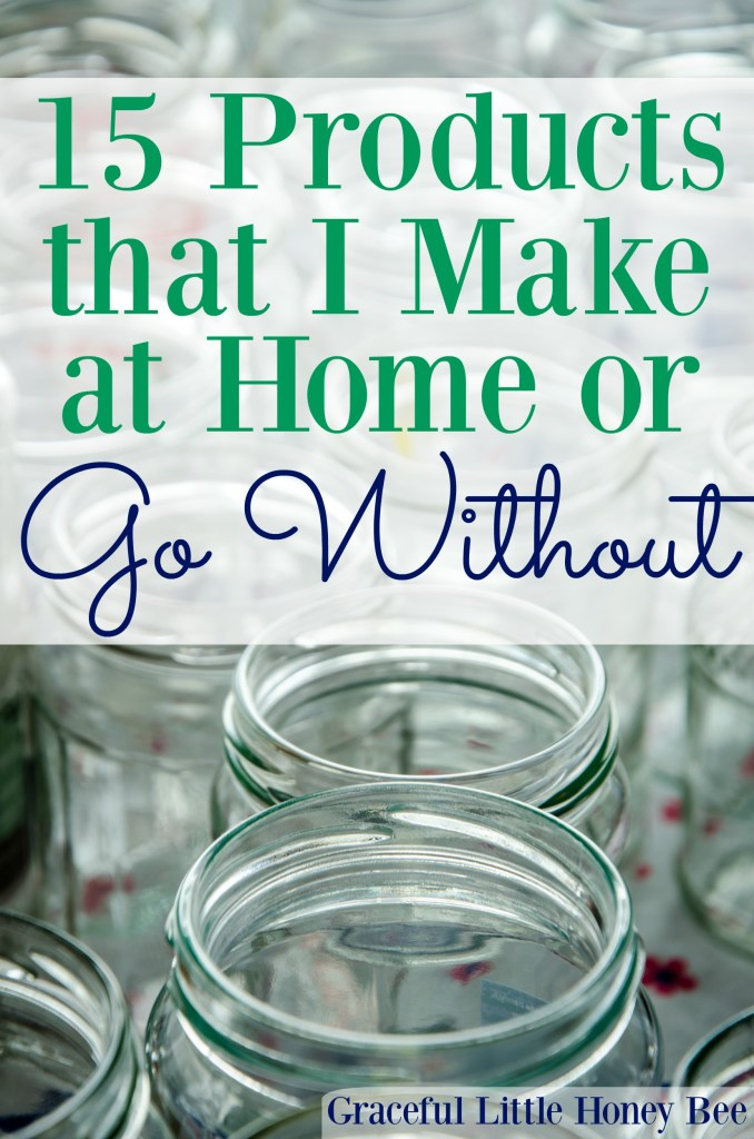 See which products that I make at home or simply go without to save money including oatmeal packets and dryer sheets.