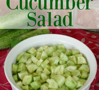 Try this fast and easy cucumber salald for a healthy side dish on gracefullittlehoneybee.com