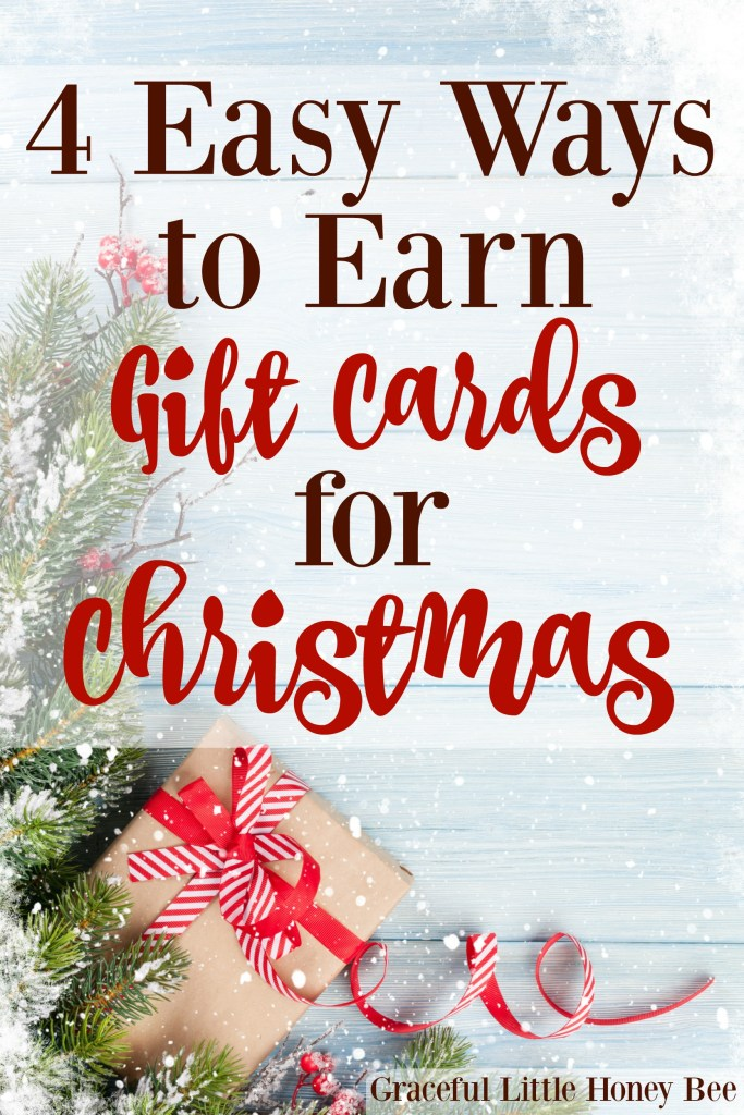 Find out how to earn extra money and gift cards for Christmas on gracefullittlehoneybee.com