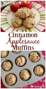 Try these easy and delicious Cinnamon Applesauce Muffins on gracefullittlehoneybee.com