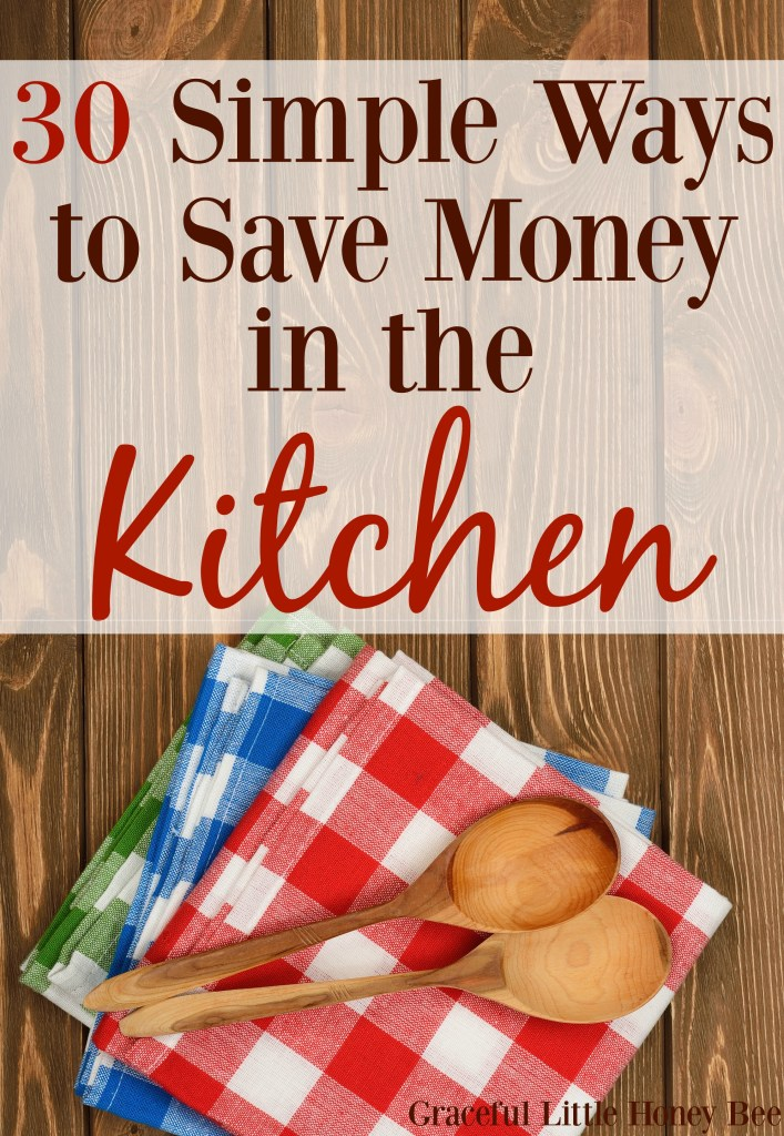 Find the best and easiest ways to save money in the kitchen on gracefullittlehoneybee.com