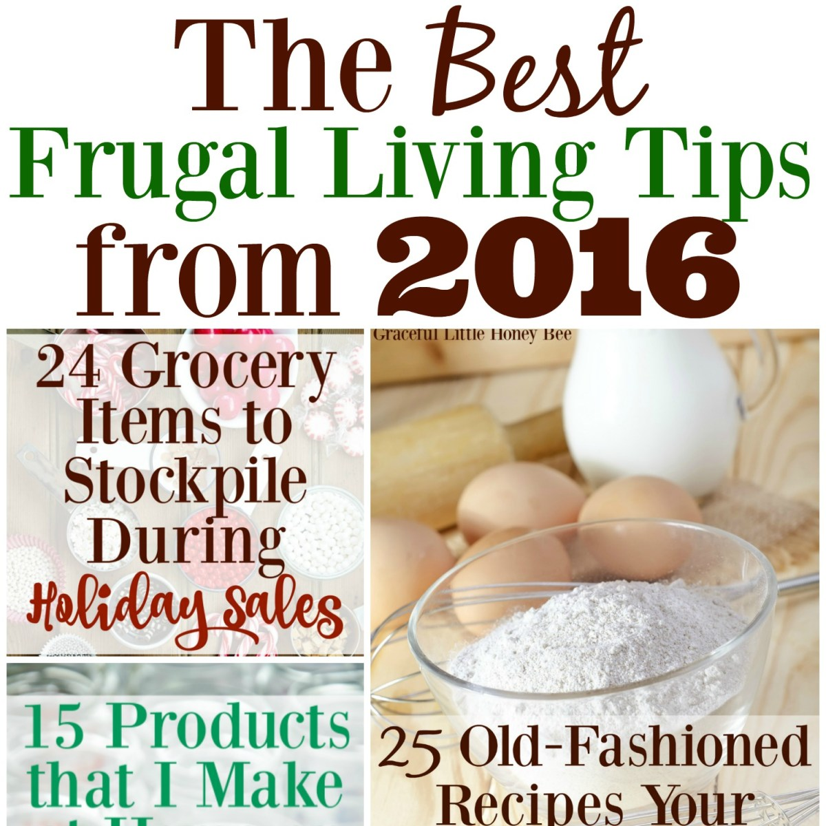 The Best Frugal Living Tips from 2016