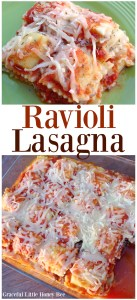 See how to make this quick and easy Ravioli Lasagna on gracefullittlehoneybee.com