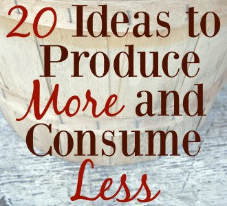 20 Ideas to Produce More and Consume Less
