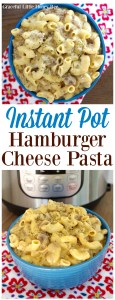 Make this easy Instant Pot Hamburger Cheese Pasta in only 4 minutes for a quick dinner on gracefullittlehoneybee.com