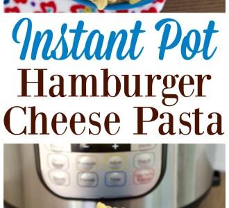 Instant Pot Hamburger Cheese Pasta